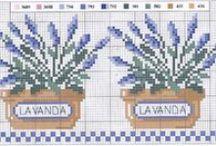 haft krzyżykowy - lavende