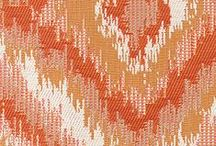 Outdoor Fabrics...Shades of Sunset / Featuring upholstery and vinyl from our Sunshine II and Sunshine III Collections.