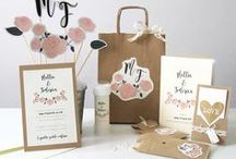 Rustic Chic Wedding Stationery / Rustic Chic Wedding Stationery  www.laughlau.com/wedding