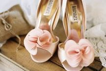 Wedding Shoes / What girl doesn't love her shoes?  Your wedding day is a time to splurge on just the perfect shoe! Colored and trendy or classic and nude...you decide...