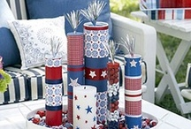 July 4th Patriotic Home Decor / Great creative ideas for DIY July 4th and patriotic home decorating.