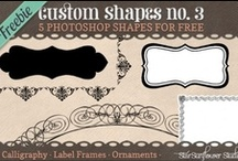 Fonts, Clipart, and Photoshop / My favorite fonts, clipart, and photoshop freebies.