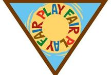 Brownie Fair Play Badge Ideas / Requirements for Brownie Fair Play Badge--  Step 1: Follow the rules.  Step 2: Include everyone. Step 3: Be part of a team.  Step 4: Keep score.  Step 5: Have a field day. / by Brownie Girl Scout Badges