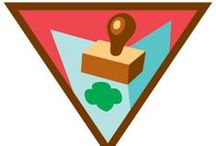Brownie Letterboxer Badge Ideas / Requirements for earning Letterboxer Brownie Badge--  Step 1: Getting started with letterboxing.  Step 2: Find your own stamp.  Step 3: Practice solving clues.  Step 4: Search for a letterbox.  Step 5: Make a letterbox.  / by Brownie Girl Scout Badges