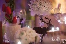 Mariage d'Hiver / Quelques réalisations de mariages hivernaux | bouquets de mariées / cérémonies sous la neige / scénographie au coin du feu... Il fait bon s'unir au coeur de l'hiver | par Tanaga ambiance designer