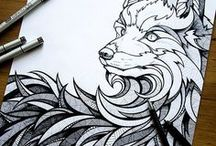 Zen Tangle / Inspiring inkwork and how to tangle!