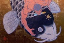 "Japanese Woodblock Prints / Ukiyo-e, or ukiyo-ye (浮世絵, ""pictures of the floating world""), is a genre of woodblock prints and paintings that flourished in Japan from the 17th through 19th centuries [WikiPedia]"