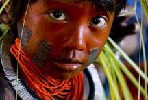 Aborigines of South America / Aztec people, Yawalapiti Tribes of Brazil, Embera Tribe of Panama Canal...