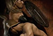 Warrior Body and Soul / Spartans, Roman Gladiators, Warrior culture with minimal clothing... great for drawing!