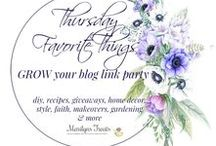 Thursday Favorite Things / Sharing photos from bloggers that join our link party Thursday Favorite Things Blog Hop. You will find: Recipe Ideas | Craft Ideas | Kids Crafts | Home Decor Inspiration | Kitchen Design Ideas | Organization Tips | Free Planners | Women's Fashion Ideas | DIY Home Decor Inspiration| Family & Faith