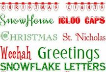 Christmas Fonts, Clipart, and Photoshop / Fonts, clipart, and Photoshop ideas for Christmas.