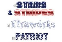 July 4th Patriotic Fonts, Clipart, and Design / Fonts and clipart for July 4th designs.