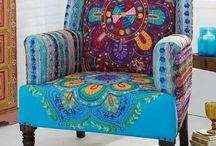 Boho furnishings