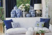 Porcelain Jar Inspiration / How to display porcelain chinese ginger jars. Blue and white ginger jars from CAI Imports