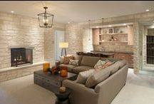 Beautiful Basements / Some gorgeous basement ideas for your next renovation. Never forget to get the basement waterproofed before beginning a renovation- otherwise everything nice may be ruined! Mid-Atlantic Waterproofing has been the expert in basement waterproofing and foundation repair since 1965!