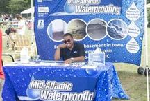 Trade Shows / We do a variety of home shows throughout each year in each of our markets. Have you recognized us? Mid-Atlantic Waterproofing has been the expert in basement waterproofing and foundation repair since 1965!