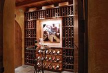 Basement Wine Cellars and Wet Bars / Basements aren't just for storage. Let the inner wine, liquor, and beer drinker be unleashed. Entertain while keeping your drinks at the optimal temperature! Just make sure before getting work done, to get the basement waterproofed!
