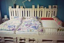 Familienbetten / extra breite Bettenkonstruktionen