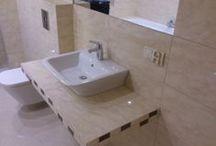 Remont łazienki w domu jednorodzinnym / Remont łazienki w domu jednorodzinnym