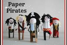 Pirate Art and Activities / Ideas for art, crafts, and activities for kids related to pirates including pirate ships, pirate games, treasure related games and crafts. Ahoy mateys!