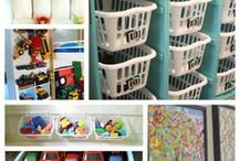 Organizing Our Kids' Chaos / Ways to organize kids' artwork, kids' rooms, and kids' spaces and toys.