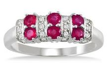 Radiant Rubies / Careful, these rubies are fiery and red hot, just like the month of July.