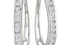Diamond Hoop Earrings / by Szul Jewelry