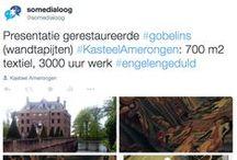 Gobelins Kasteel Amerongen / Op 30 april 2015 presenteerde Kasteel Amerongen een aantal gerealiseerde projecten. Tijdens deze middag is ook de volledig ingerichte gobelinkamer heropend voor publiek. Het kasteel bezit een kamer die volledig is behangen met wandtapijten uit het einde van de 17e eeuw, een unicum. De wandtapijten, die in 2006 zijn verwijderd en opgeslagen, zijn door de vrijwilligers gerestaureerd onder leiding van textielrestaurator Josien Verdegaal.