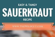 Sauerkraut Recipes / Recipes for homemade sauerkraut. You can eat sauerkraut on its own or add it to everything from tacos to soup!