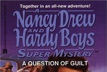 Nancy Drew and Hardy Boys Case files and Super mysteries.