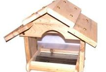 Hopper Style Feeders-Wood / Feeders with hoppers made from wood
