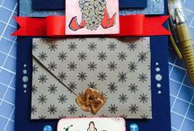 Christmas hand made cards / Paper, love, glitter and ribbons