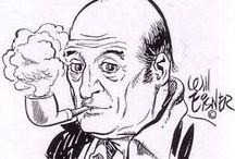 Will Eisner / William Erwin Eisner (Brooklyn, Nueva York, 6 de marzo de 1917 - Lauderdale Lakes, Florida, 3 de enero de 2005) fue un influyente historietista estadounidense, creador del famoso personaje The Spirit en 1941 y popularizador del concepto de novela gráfica a partir de 1978. Además,  enseñó las técnicas del cómic, y escribió: El cómic y el arte secuencial (Comics and Sequential Art, 1985) y La narración gráfica (Graphic Storytelling and Visual Narrative, 1996).