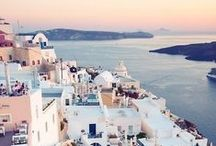Santorini / The stunning blues and whites of Santorini are the stuff travel dreams are made of!