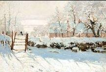 Inverno/winter - art / Winter landscapes made by famous artists. Una galleria di immagini che rendono giustizia al gelo e alla bellissima luce fredda invernale