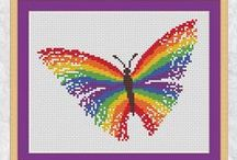 Medium sized cross stitch projects / Mid sized projects from Climbing Goat Designs