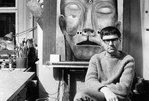 Zdzisław Beksiński / Zdzisław Beksínski (1929-2005) fue un renombrado pintor, fotógrafo y escultor polaco. Ejecutó sus dibujos y pinturas de un género que él mismo llamó barroco o gótico. El primer estilo es dominado por la representación, los mejores ejemplos vienen de su periodo de Realismo fantástico, cuando pintó imágenes distorsionadas de un ambiente surrealista y de pesadillas. El Segundo estilo es más abstracto, siendo dominado por la forma, y está tipificado por las últimas pinturas de Beksínski.