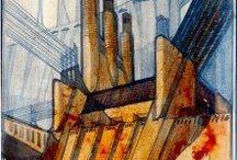Antonio Sant'Elia - Futurism / Disegni dell'architetto futurista Antonio Sant'Elia