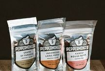 Peppermongers / Peppermongers is the younger, hipper, brother of Salthouse. After tasting the world's highest grade Tellicherry Black Pepper during a trip to Kerala, Tom realised that much of the pepper eaten in the back home was bland and often poor quality. Inspired by this, the collection grew to six of the world's very best peppers and thus the brand Peppermongers was born.