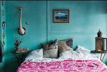 Bedroom / Bohemian inspired bedroom interiors / by Moon to Moon
