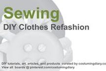 Sewing Projects for Beginners Clothes Tutorials / by costumingdiary.com