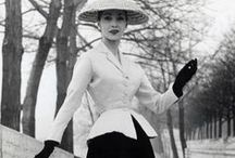 1950s New Look Fashion / 1950s New Look Fashion & Dress 1945 - 1959 with focus on American fashion. WWII ends Aug 15 1945. Cold War begins. 1950s - Dior New Look, couture fashion for adults. / by costumingdiary.com