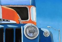 Retro Pick Up Trucks and more / I have a thing for these old trucks. One day I'll have one. I also enjoy using them for painting subjects!