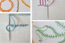 Embroidery stitches / stitch tutorials and how-to's