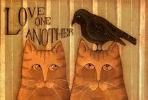 Cat Prints/Posters / by Pam McFadzean