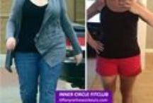 Fit, Fierce and Fabulous Before & After Photos / ICFC members strut their stuff. Some girls have lost from 87-130 pounds. This INNER CIRCLE FITCLUB is the best way to learn the healthy habits to help you lose weight and keep it off.