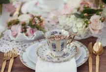 Tea Party / Teacups, tea pots, & pretty delicate party looks / by Barbara Propst