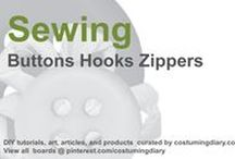 Sewing for Beginners Tutorials Buttons Zippers / by costumingdiary.com