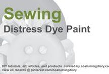 Sewing for Beginners Tutorials Distress Dye Paint / by costumingdiary.com