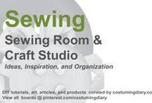 Sewing Room Craft Studio Ideas Organization / by costumingdiary.com
